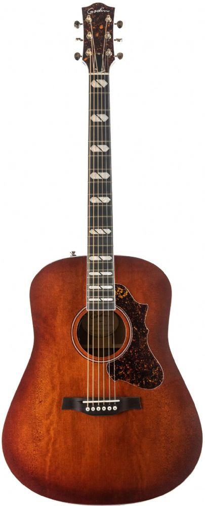 Godin Metropolis LTD Havana Burst HG EQ with Tric Case